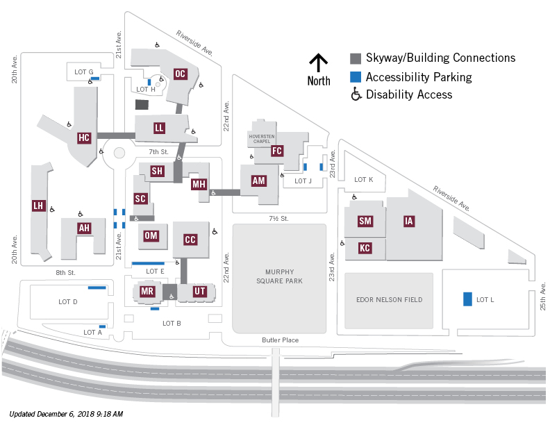 Riverside City College Campus Map.Map Directions Parking About Augsburg University Augsburg