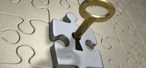 Key in a puzzle piece