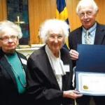 Ebba Brooks holding her award