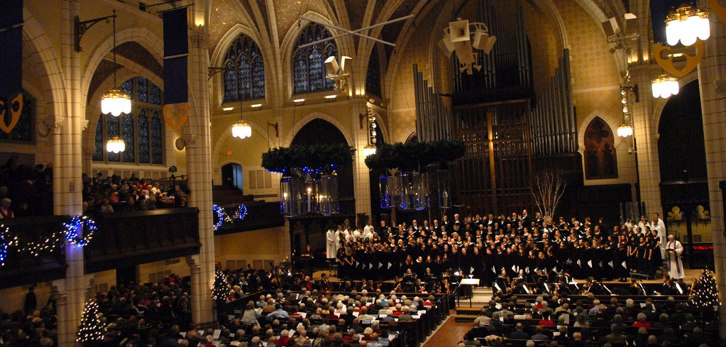 The Augsburg Choir performing at Advent Vespers