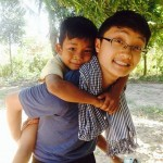Shane Xiong '16 , in Singha Village, Cambodia