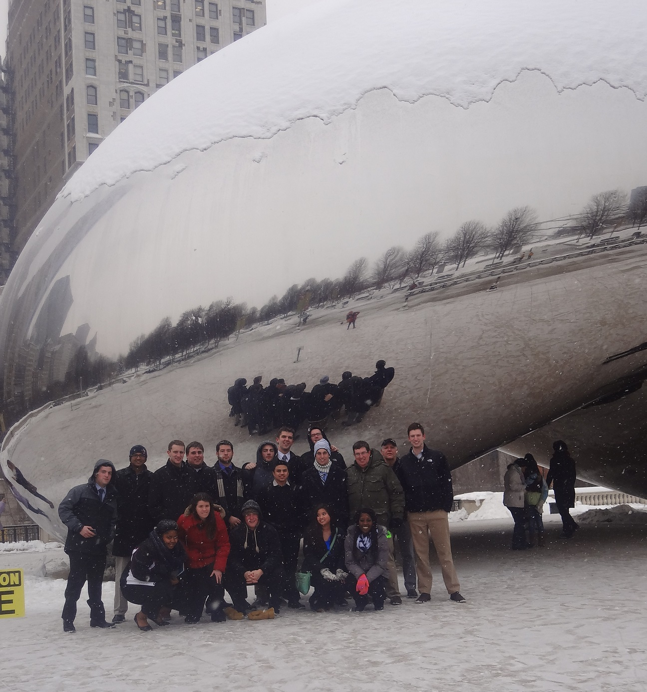 Augsburg Business Organization in front of Cloud Gate in Millennium Park, Chicago