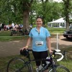 Jill Watson with bike