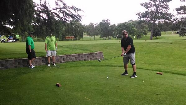 Enjoying A-Club Golf Tournament