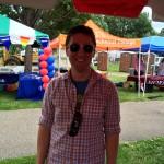 Pride festival attendee