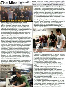Spring 14 Issue - Biophysics Newsletter (page 1)