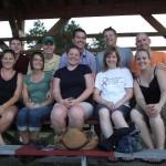 Brad and Sarah Motl (class of '04), Grant and Karin Jordahl, Andy and Kara Zetzman, Ryan and Kellen (Bredison) Lambeau, and Christian and Andrea Shada.