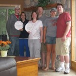 Sometimes we all could not make it due to family issues, but we have always been there in spirit. Grant and Karin are holding a plate to represent Andy and Karin Zetzman while Kellen and Ryan Lambeau hold a plate for Christian and Andrea Shada.