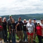 Perrot State Park, Wisconsin (left to right): Christian and Andrea Shada, Grant and Karin Jordahl, Andy and Kara Zetzman, Sarah and Brad Motl, Kellen (Bredesen) and Ryan Lambeau.