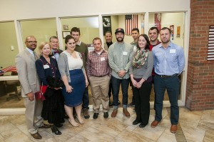 Student, Staff, Faculty, Alumni Gather to Dedicate Vets' Lounge