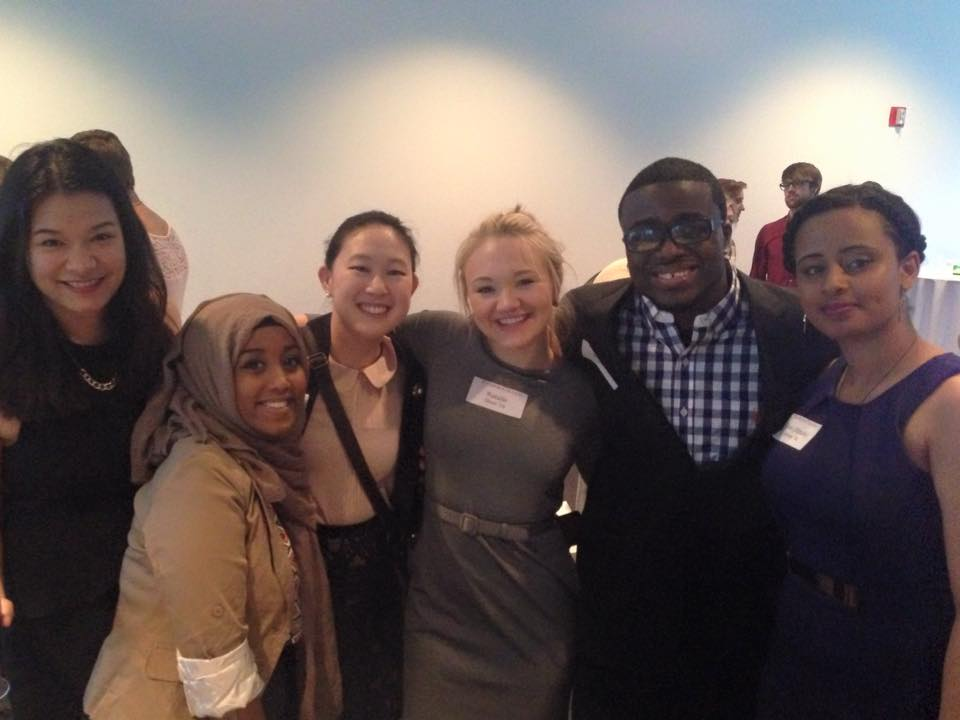Model UN Augsburg students at Scandinavia House in NYC.