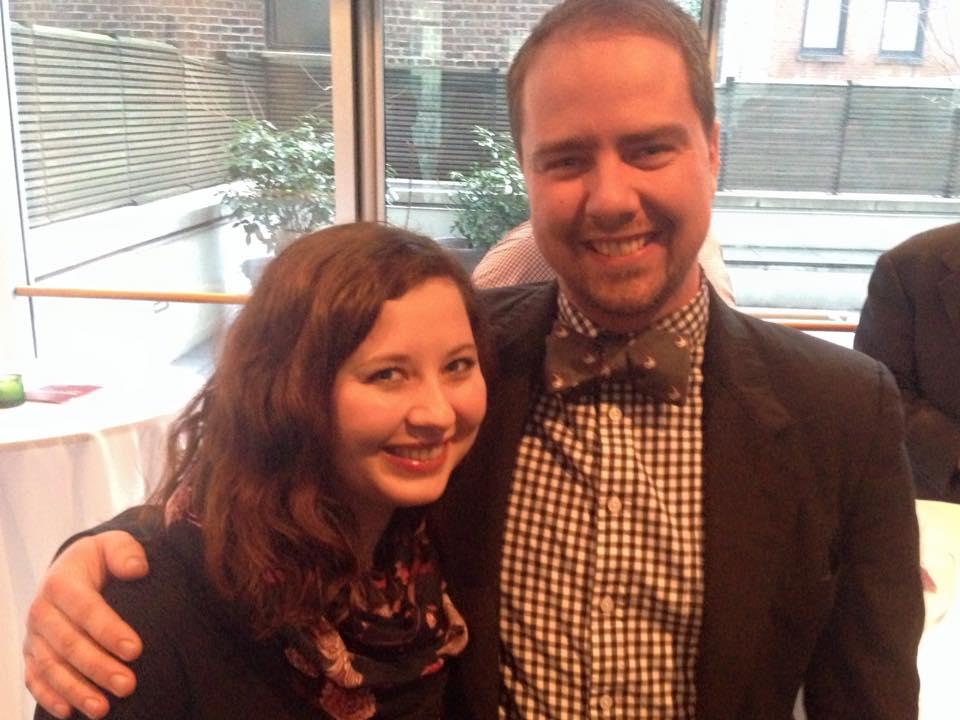 Seth Lienard '11 and Caitlin Hozeny '09 at Scandinavia House in NYC.