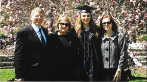 Anne Thompson Heller with her family at Augsburg College graduation