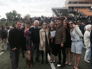 Raether's family, from left: son Cristian (Gustavus, 2013), Alexandra (St. Mary's College of California, 2006), David, Marina, Saskia (Gustavus, 2015), Constantin (Humboldt State University of California, 2015), Marisa (Macalester, 2008), Claire (University of San Francisco, 2009). Not pictured: daughters Mariangela and Juliette.