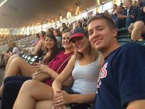 Auggie fans in the stands at Target Field