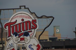 View of Twins sign