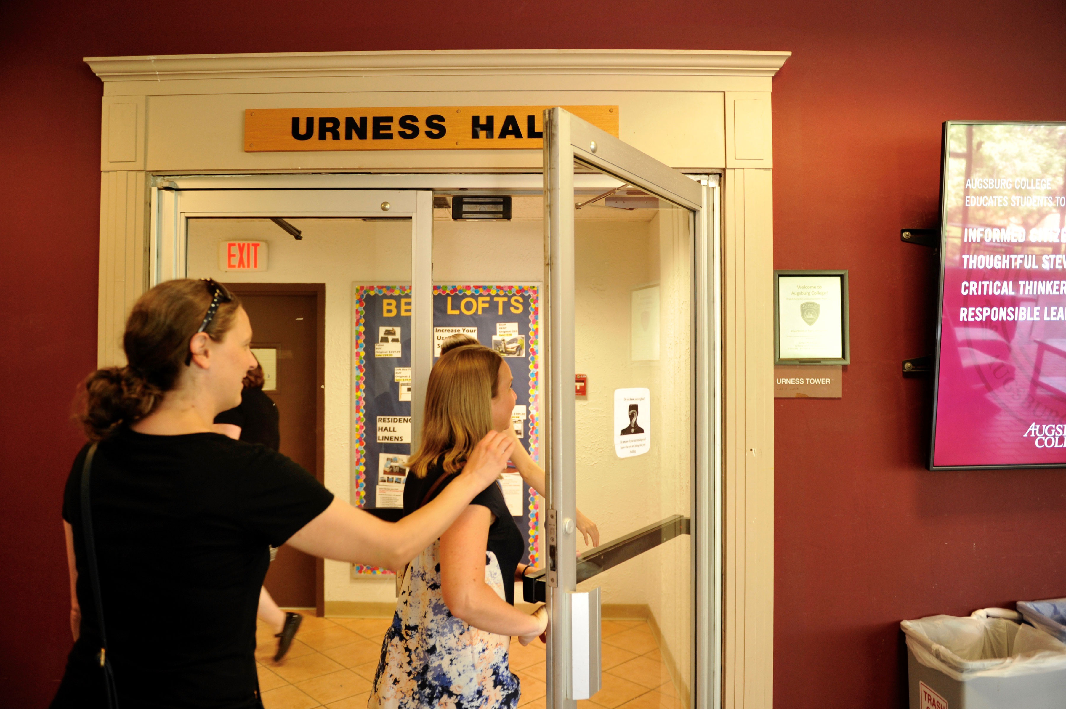 Entering Urness Hall - home to so many memories.