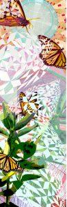 "Detail of Greta McLain's ""Emergence"" mural butterflies"