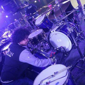 Jazmine Darden with drums