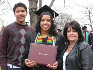 Jazmine Darden in graduation cap and gown