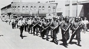 police marching
