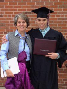 Walker and Tangen at graduation