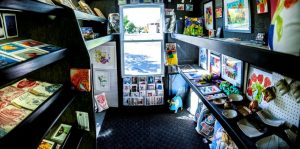 inside the art truck