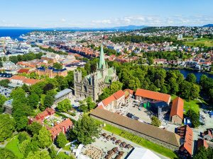 Nidaros Cathedral from the sky