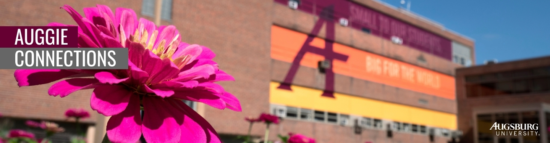 Augsburg campus in spring
