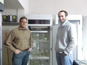Biology professors Matt Beckman and Kevin Potts