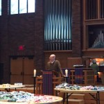 Pastor Justin Lind-Ayres opens the chapel service