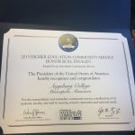 Interfaith Community Service Honor Roll certificate