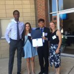 Mohamud Mohamed '19, Emilie Tomas '19, Chuill Lip '18, and Emma Blom '17