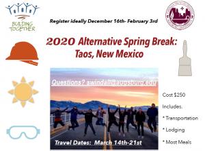 2020 Alternative Spring Break: Taos, New Mexico