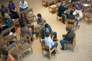people in chairs in discussion