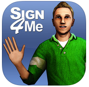 Sign 4 Me - A Signed English Translator Logo
