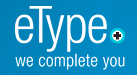 eType Logo with words eType we complete you
