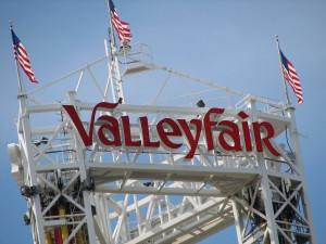 The top of a ride at Valleyfair.