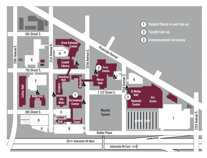 Directions and Parking Commencement Augsburg University