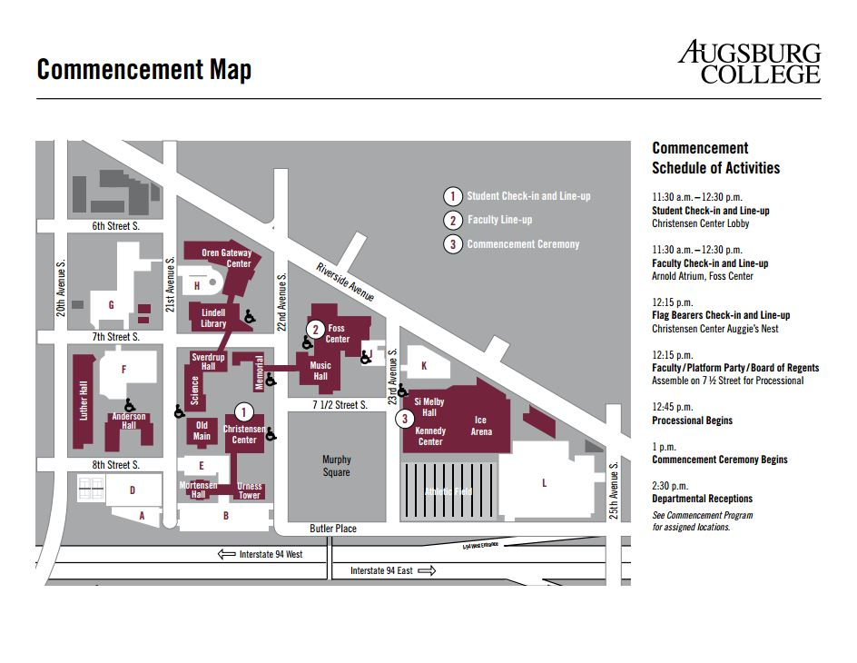 Commencement-Map