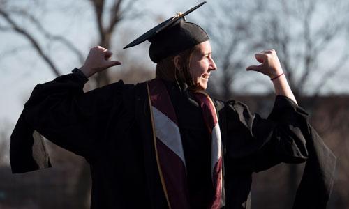 Augsburg graduate in academic regalia