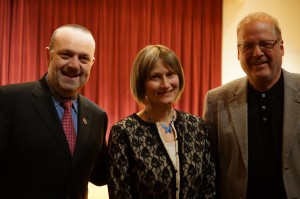 Dave St. Peter, Minnesota Twins President, Kristin Anderson, Bob Strommen '74