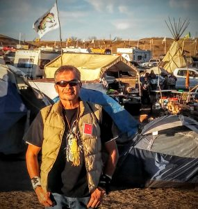 Larry Pourier at Standing Rock camp