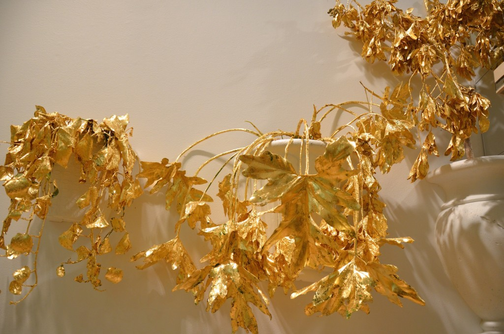 leafy plants covered in gold