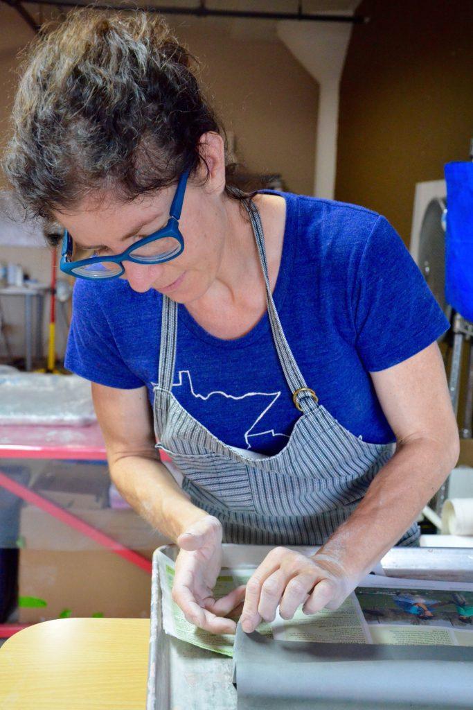 Eileen Cohen in her studio