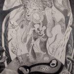 "St. Jerome 1, 2019, Graphite on Illustration board, 30"" x20"""