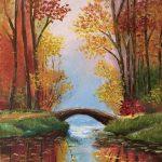 "YORDI ADENEW, My favorite place | Oil on canvas, 2021, 8""x11"""