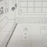 "SAM DONAHUGH, Sunday Morning | Micron pen, 2021, 18""x24"""