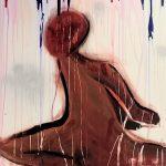 "ATHENA ESTIMÉ, Rise for the Inevitable | Acrylic paint, 2021, 36""x48"""