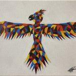 "ESTEFANY GARCIA PINA, Bird of colors | Acrylic on canvas, 2020, 11""x14"""